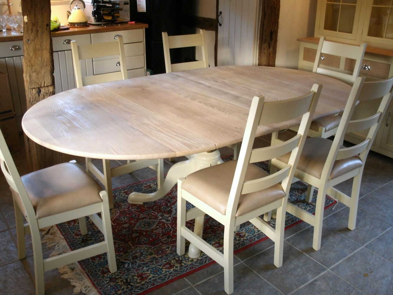 Customers Bespoke Oak Dining Tables Harmans Furniture
