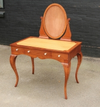 Solid Cherrywood dressing table with satinwood inlay
