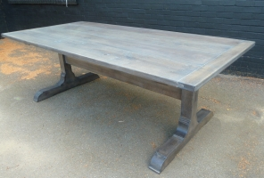 Fumed and stained solid oak monestry table
