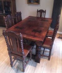 Traditional Refectory table in Tudor Finish