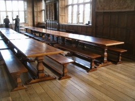 Suppling 8 tables with 16 benches