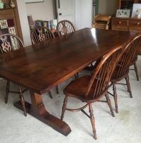 Solid Oak Monastery Table 7'6 x 42