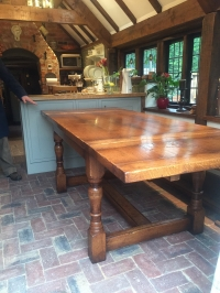 Traditional Refectory Table in Tudor colour and heavy distressing