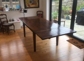 French Provincial Table in a dark colour with medium distressing