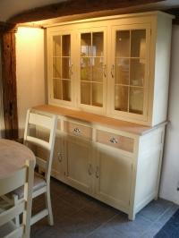 Solid Oak Cabinet in Farrow and Ball in Wimborne White