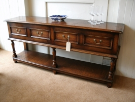 Jacobean Server in Dark colour with light distressing