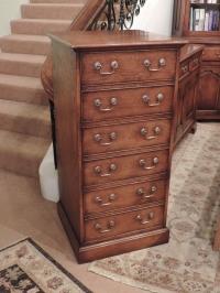 Solid oak filing cabinet in Turdor finish