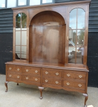Solid cherry glazed cabineton cabiole legs in medium colour