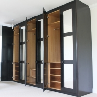 Large painted fitted wardrobe with interial fittings