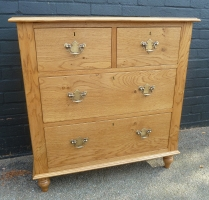 Two short and two long chest of drawers in our light oak finish