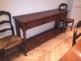Solid Oak Server with three drawers