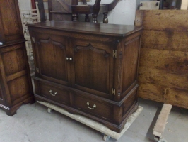 Traditional TV Cabinet finished in Tudor Colour