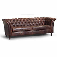 Caesar 3 seater sofa in bartollo brown leather
