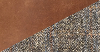 Cerato Brown Leather with Uist night Tweed