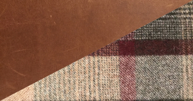 Cerato Brown Leather with Balham Green Tweed