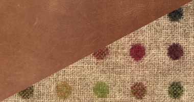 Cerato Brown Leather with Multispot natural Moon Fabric