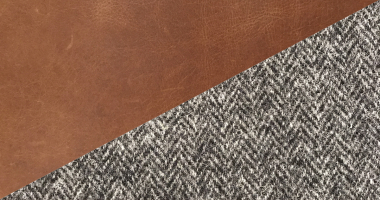 Cerato Brown Leather with Vintage Flint Tweed