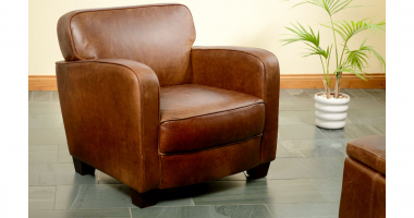 Roger Chair in Cerato Brown Leather