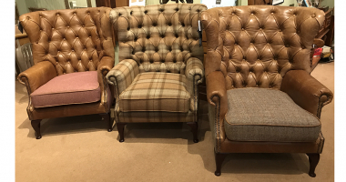Wing Wrap Armchairs in different combinations