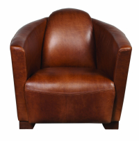 Brando Chair in Brown Cerato Leather