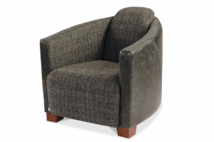 Brando Chair in Highlander smoke and Black Cerato Leather