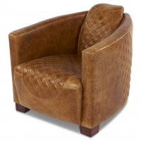 Emperor Chair in Cerato Brown Leather