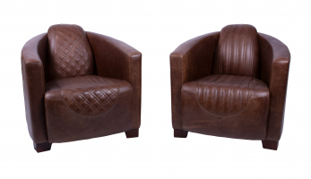 Emperor and Sovereign Chair in Bartollo Brown Leather