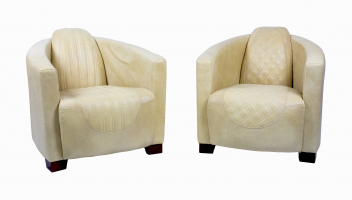 Emperor and Sovereign Chairs in Cerato Gold Leather