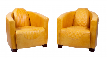 Sovereign and Emperor Chair in Cerato Mustard Leather