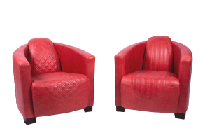 Emperor and Sovereign Chairs in Cerato Red Leather