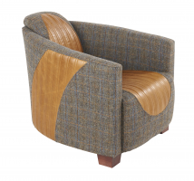 Sovereign Chair in Brown Cerato Leather and Uist Night