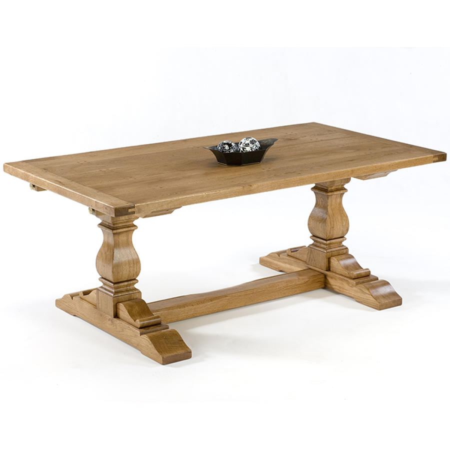 Oak Square Column Refectory Dining Tables