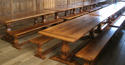 Oak Square Column Refectory Dining Tables - picture 11
