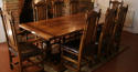 Oak Square Column Refectory Dining Tables - picture 9