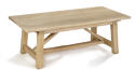 Oak Refectory Dining Table with a Primitive Base - picture 1