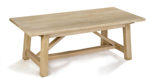 Oak Refectory Dining Table with a Primitive Base