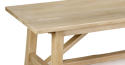 Oak Refectory Dining Table with a Primitive Base - picture 2