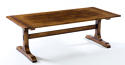 Oak Refectory Dining Table-Monastery Base - picture 1