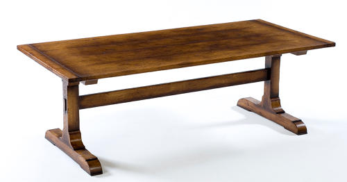 Oak Refectory Dining Table-Monastery Base