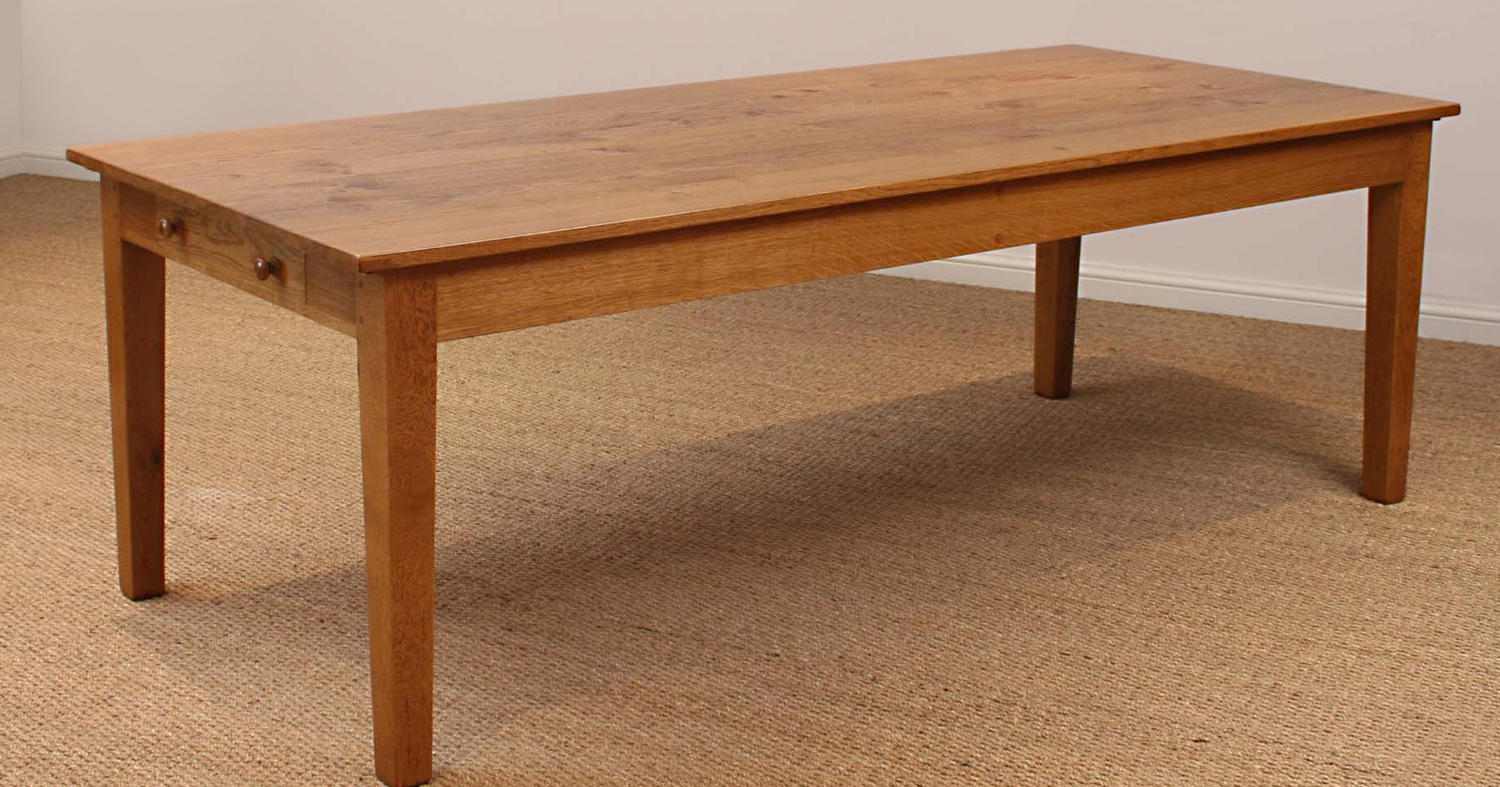 Oak French Provincial Dining Table with leaves