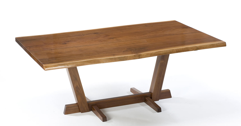 Walnut Waney Edge Dining Table