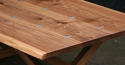 Walnut X frame Refectory Table - picture 2