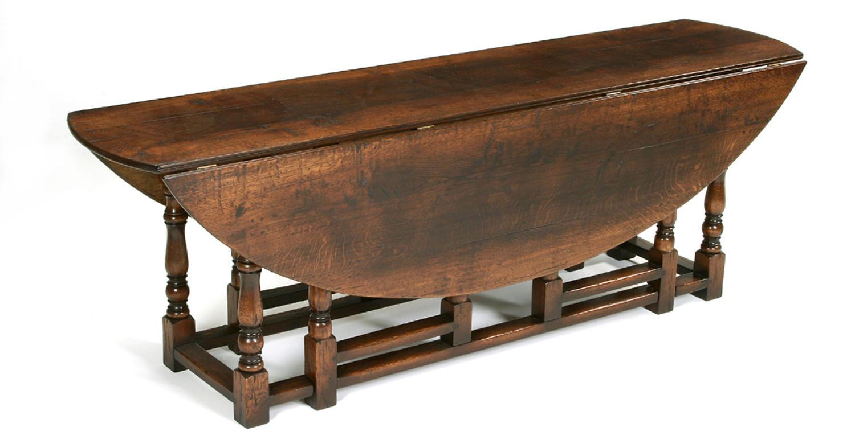 Oak double gateleg dining table in oak gateleg tables for Gateleg dining table