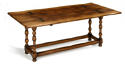 Oak Folding Top Dining Table - picture 1