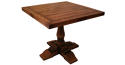 Oak Pedestal Table - square to round - picture 2