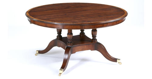 Regency Style Pedestal Dining Table