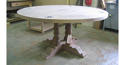 Cherry Pedestal Table with Star Inlay - picture 2
