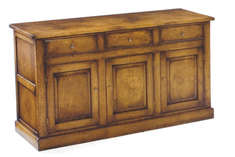 Oak Dresser Base - three door Dorset