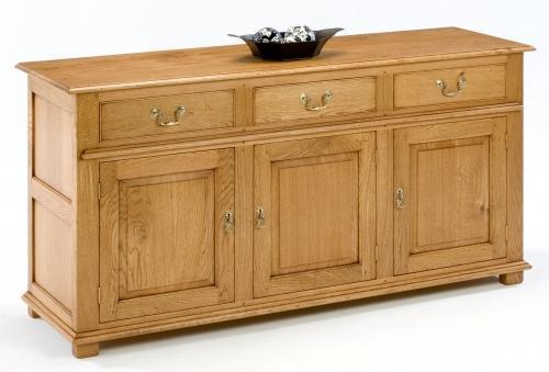 Oak Dresser Base - Moulded Base