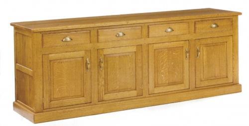 Oak Dresser Base - four door